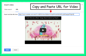 Copy and Paste Video URL